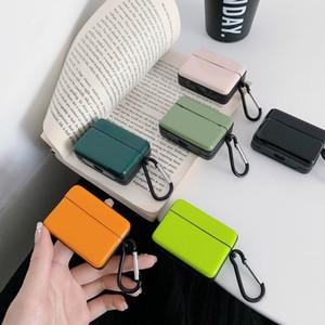 Люкс Простые чистые цвета серии IMD мягкой оболочки TPU крышка для Airpods Pro Case Air стручки 2 Case Wireless Charging Luxury Bag