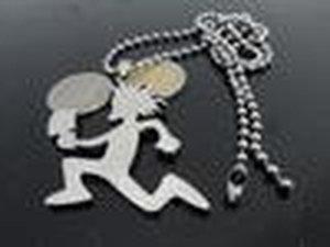 السفينة حرة! 1PCS الفضة الفولاذ المقاوم للصدأ 2 '' سحر Hatchetman كبيرة سلسلة قلادة مجانا مجنون المهرج مجوهرات بوسي Twiztid