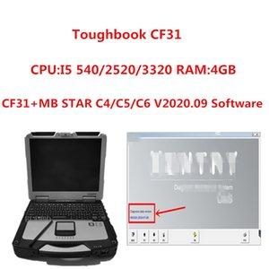 2020 عالية الجودة توف بوك سي CF31 الكمبيوتر المحمول I5-540 / 2520/3320 مع HDD / SSD 4G RAM يمكن أن تعمل لMB ستار C4 / C5 / C6