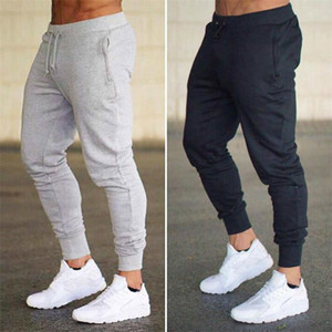 Mens Joggers Casual Pants Fitness Sportswear Tracksuit Bottoms Skinny Sweatpants Trousers Black Gym Jogger Bodybuilding Track Pants WE