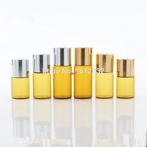 Fast Shipping 1000pcs lot 2ML Amber Mini Glass Bottle, 2CC Sample Vial,Small Essential Oil Bottle F2017240good qualtitygood shopping