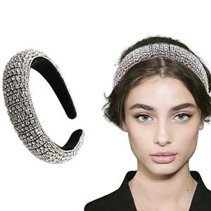 Strass cristal de diamant Bandeaux pour les femmes Lady Shiny Bandeaux main large Hoop perles bling cheveux Mode Bijoux 4 Styles DHE2349