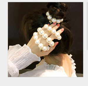 Fashion Luxury Women Headbands Pearl Hair Accessories Scrunchies Wedding Bridal Crown For Women Party Wedding Jewelry For Women