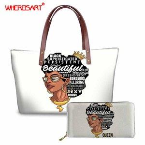 WHEREISART African Tragetaschen, weiße Handtasche mit Handtaschen für Frauen 2020, Damehandtasche Set