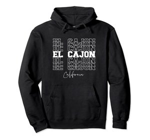 El Cajon California Pullover Hoodie Unisex Size S-5XL with Color Black Grey Navy Royal Blue Dark Heather