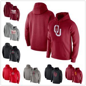 Ohio State Buckeyes Erkek Hoodies Kazak Oklahoma Soonlers Hoodie Uzun Kollu Kazak Moda Kazak Gray