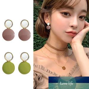 Корея Новая мода Ins Sud Серьги для женщин Модные Девушки Сладкие Простые Ол Геометрические Серьги Серьги Ювелирные Изделия Аксессуары