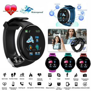 D18 Smart Watch Men Women Blood Pressure Round Smart wristband Waterproof Sport Smart Watch Fitness Tracker For Phone Android Ios