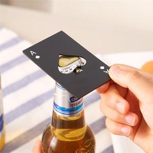 Cartão de poker criativo abridor de garrafa de aço inoxidável poker cartão de jogo de espadas uma cerveja abridores de vinho bar ferramenta de cozinha DHL frete grátis