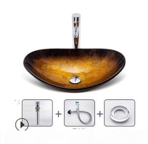 2020 hot venda de Banho Sinks Bathroom lavatório de vidro temperado norte Europeia banheiro lavatório estágio estilo de arte banheiro lavatório A3