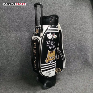 جديد حقيبة الجولف مع عجلة بو الجلود التعادل قضيب قياسية الكرة حزمة نوادي الجولف كيس مع غطاء المطر 2 ألوان 201027