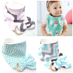 Baby-Lätzchen Nursling Jungen Mädchen Speichel-Tuch Molar Anzug Ring Tuch Bambus Speichel-Tuch 5 5slb I2