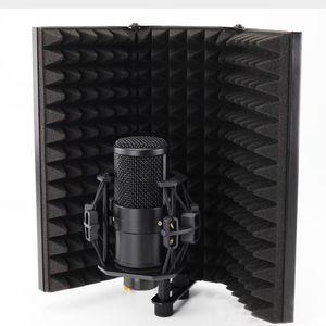 Faltbare Mikrofon akustische Isolierung Schild Alloy Acoustic Foams Panel-Studio-Aufnahme Mikrofon-Zubehör