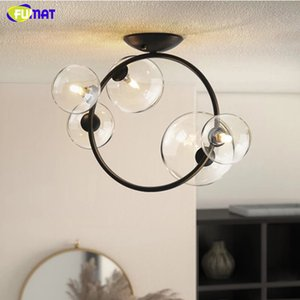 FUMAT Modern Creative Glass Ball Ceiling Lamp Living Room Balcony Porch Aisle Bedroom Round Bubbles Ceiling Light Kitchen Fixtures