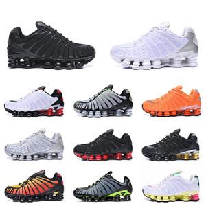 nike shox tl Shox TL Koşu Ayakkabı 2020 Üçlü Siyah Beyaz Gümüş 301 Turuncu Lacivert Volt Kargo Haki Kireç Blast İçin Erkekler Kadınlar Spor Eğitmenler
