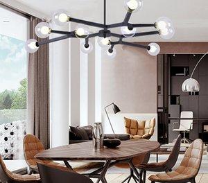 Lampade a lampade a lampadario in oro rosa Bolla di vetro Sputnik Cucina LED Salon Lounge Tree Lighting Astrumenti