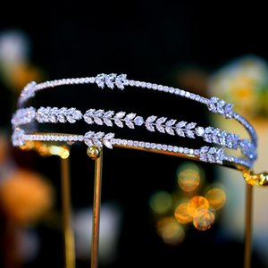 Royal Princess Headband Zircon Hairband Wedding Bridal Crown Tiara Silver Headpiece Jewelry Fashion Sparking Headdress Ornament Headwear