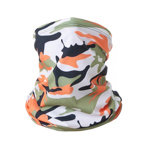 color de camuflaje Deporte Escudo de usos múltiples cuello de la cara de la polaina Headwear Máscara de refrigeración de la bufanda abrigo de la cabeza de los hombres de las mujeres voluntad y de arena