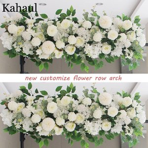 100cm and 50cm custom artificial flowers for wedding wall arrangement supplies silk peonies fake flower row arch backdrop decor C0930