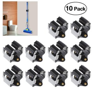 10PCS Broom Hanger Mop and Broom Holder Organizer Grip Clips Wall Mounted Garden Storage Rack with Screws Bathroom Hooks
