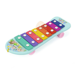 New Kids Music Bus Toys Instrument Xylophone Piano Lovely Beads Blocks Sorting Learning Educational Baby Toys For Children C0119