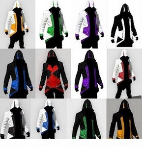 Assassins Creed 3 III Connor Kenway Hoodies Plus Size Male Uniform Casual Coats COS Jackets Mens Coats Hooded Cosplay Jackets XXS-5XL NEW