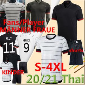 2020 2021 Germany  Soccer Jersey versões de jogador Treinamento Werner Reus Kimmich Krimich Kroos Gnabry Havertz Homens Mulheres Kits Kits Calças de Futebol 4xl