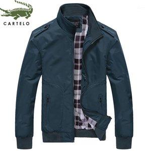 Cartelo Hombres Chaqueta Classic Moda Casual Slim Jacket Hombres Cómodo Cuello Impermeable Collar Cuello