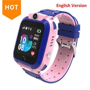 Últimas Q12 crianças crianças relógio relógio smartwatch com cartão sim para meninos meninas canera impermeável ip67 presente relógio inteligente para android ios