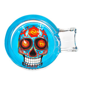 112mm*69mm Ashtrays glass ashtray Skull glass ashtray new style hot sale multi-pattern cleaning container portable ashtray