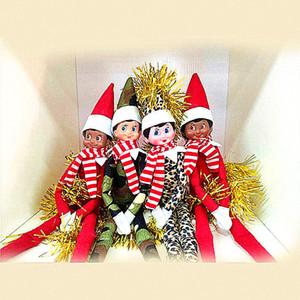 10 unids Bebé de Navidad de gran calidad con bufanda Muñecas Elfas Bebé Muñecas Muñecas Mini elf Decoración de Navidad Decoración Muñeca Juguetes Niños Niños Regalos