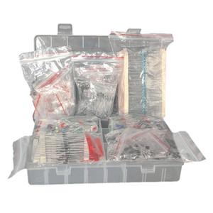 7 Valeurs de résistance Kit, Film métal Assortiment Résistances à LED Diodes céramique condensateur électrolytique, un paquet