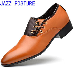 New men's leather shoes Business men's shoes Fashion casual wedding Lazy cuff Solid color pointed q324