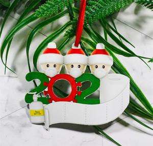 2020 Trump Санта-Клауса Xmas Подвеска DIY Имя с маской висячие Кулон 2020 Карантин елочных T9I00631