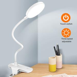 1200mAh / 2500mAh LED USB de charge 3 Modes bureau Clip lampe Protection des yeux lecture Étude lumière USB Charge 1020