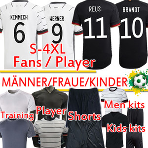 4XL GER 2020 21 Birçok Oyuncu Futbol Formaları Hayranları Eğitim Werner Reus Kimmich Haertz Kroos Gnabry Erkekler Kadınlar Çocuk Kitleri Futbol Gömlek Pantolon
