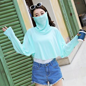 Lady Summer Sun Protection Shawl Mask Body Suit Bike Drive Scarf Ultraviolet Multi-functional Sunshade Clothing Shawl B9760 201018