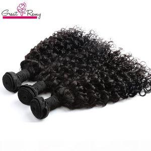 Greatremy? Волна воды Бразильской выдвижения волос Big Curly 100% НЕОБРАБОТАННОГО девственный человеческого волос Bundle 3шта много Dyeable океан волосы Плетение Утки