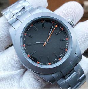 Лучшие роскоши Menes Watch Exp Air King Series 116900 и 216570 Black 40mm Dial Chamone Автоматическое механическое движение 316 Стальные брусьте дизайнерские часы