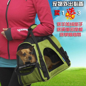 Nylon Oxford Pets Bag The Cat And Dog Go Out Portable Travel Shoulder Bags Breathable Handbag Transport Bag Carriers