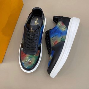 Luxury nylon suede calfskin Sneakers Brand  contemporary sneakers Mens Casual distinctive rubber sole