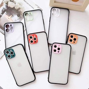 Skin Feeling Color Edge Phone Case For iPhone 12 11 Pro Max Xs Xr Xs Max 7 8 Plus with Lens Camera Protection