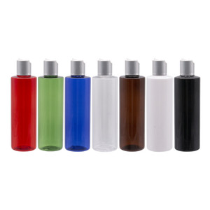 Plastic Container Matte Silver Disc Top Cap Cosmetics Liquid Soap Bottles Shampoo Lotion Bottle Empty Cosmetic Lid