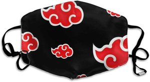 Face Masks Washable Print Face Cover Cloth Polyester Dust Reusable Mouth Bandana Anime Naruto Akatsuki Red Cloud Uchiha with Replaceable Fil