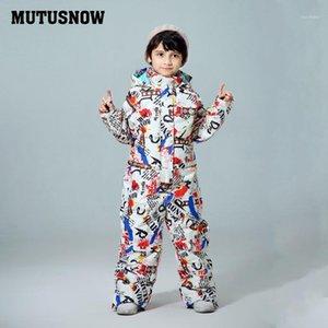 Mutusnow Детский Лыжный костюм Мальчики Детские бренды Водонепроницаемый Теплый снег Куртка и брюки Зимние лыжи и сноуборд Одежда Child1