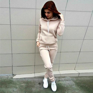 Womens tracksuit Patchwork Hoodies and Pants Autumn Winter Sweatshirt Hooded Long Sleeve Striped Pullovers Tops new bestOX42A