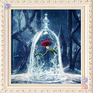 "Full Square Diamond 5D DIY Diamond Painting ""Red Rose Flower"" Ricamo Croce Stitch Strass Mosaico Pittura Home Decor"
