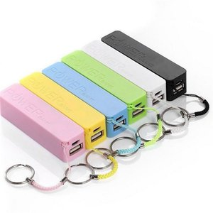 Powerbank mit Schlüsselanhänger USB-Portable 2600mAh External Power Bank Case Pack Box 18650 Batterieladegerät Keine Batterie