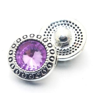 10pcs lot crystal 12mm metallo snaps bottone per il braccialetto da donna in metallo bottone a scatto orecchini gioielli 011611 h jlli