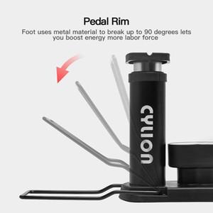 Mini Bicycle Foot Pump High Pressure Electric Motorcycle Pedal Air Tyre Inflator High Pressure Pump Bike Tools Inflatable